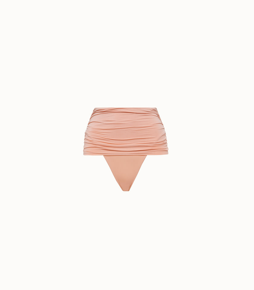 stella mc cartney beachwear slip vita alta in lycra rosa