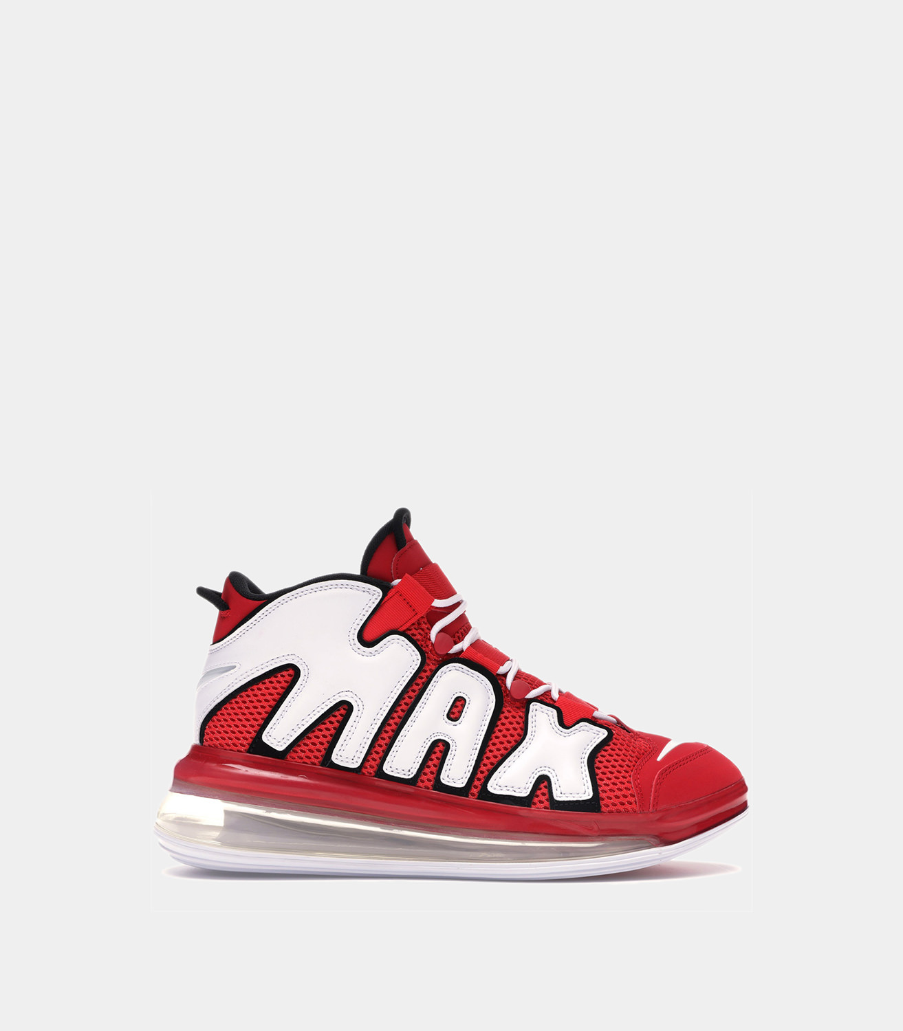 best loved e3fb4 86299 NIKE  AIR MORE UPTEMPO 720 QS 2 SNEAKERS COLOR RED