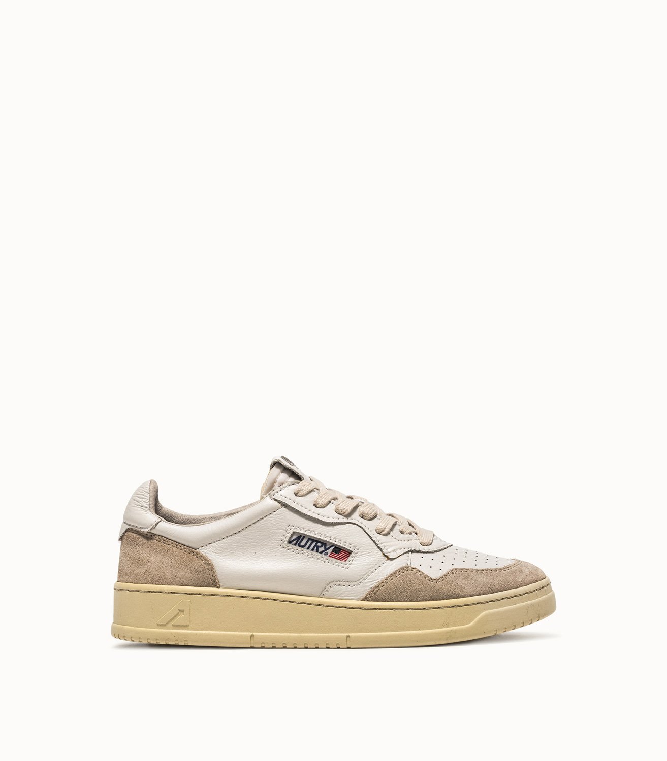 AUTRY 01 LOW SNEAKERS COLOR WHITE BEIGE