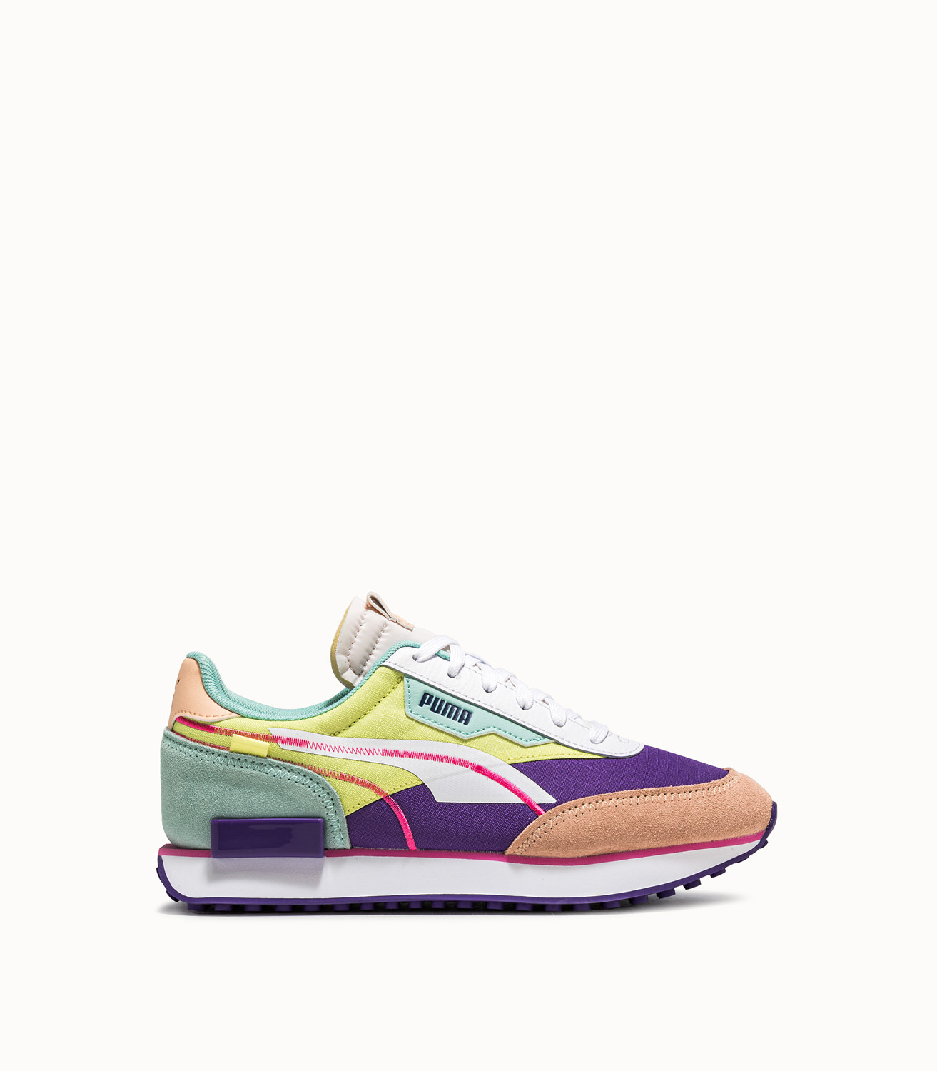 FUTURE RIDER TWOFOLD SD POP SNEAKERS COLOR YELLOW VIOLETS