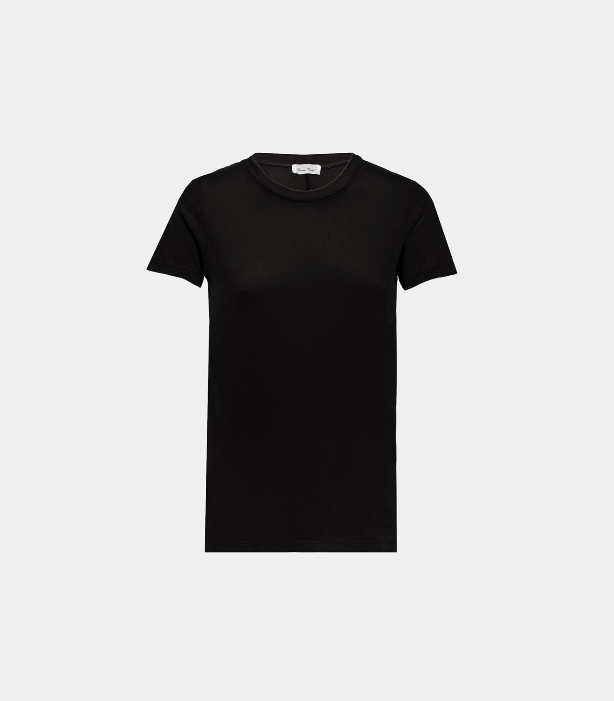 8626d863 AMERICAN VINTAGE SCOOP NECK T-SHIRT IN BLACK COTTON | Playground