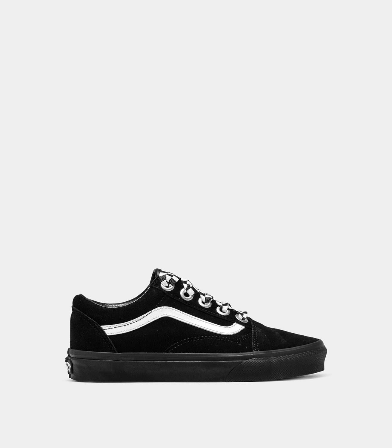 f213df888bc995 VANS OLD SKOOL CHECK LACE SNEAKERS COLOR BLACK